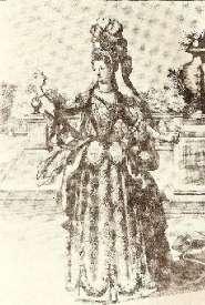 Mlle Subligny - estampe de H. Bonnart