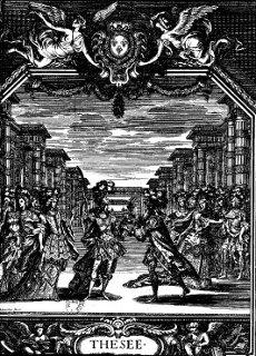 Thésée - 1675 - gravure de frontispice