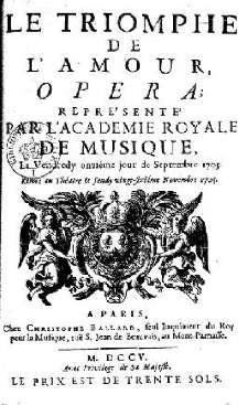 Livret de 1705
