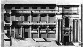 Théâtre des Tuileries - coupe longitudinale