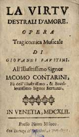 La Virtu di Strali d'amore - livret - 1642