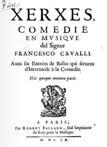 Xerxes - livret - 1660