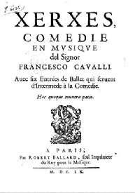 Edition du livret - Ballard - 1660